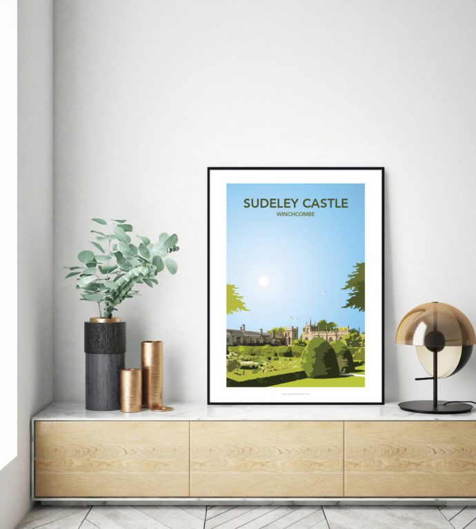 Sudeley Castle illustrated travel poster